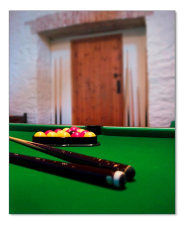Witheridge, UK: Pool table in the games room at Newhouse Farm Cottages