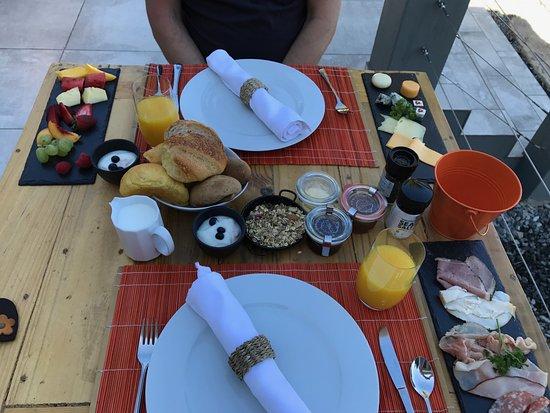 Gordon's Bay, แอฟริกาใต้: das außergewöhnliche und reichhaltige Frühstück