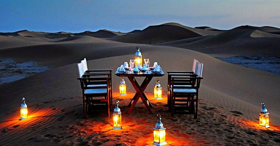 Morocco Excursions: Sunset in the Sahara Desert, Luxury Camp Accommodation