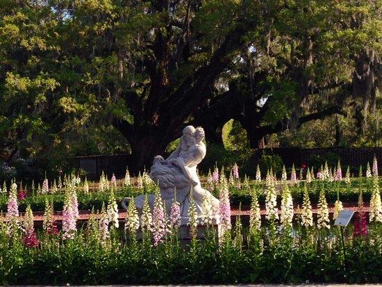 Brookgreen Gardens : Samson and the Lion by Gleb Derujinsky, Palmetto Garden
