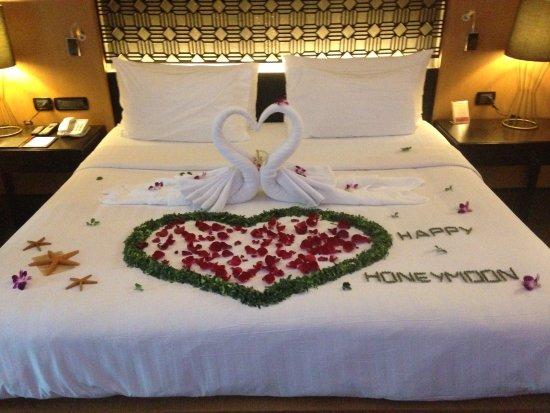 Ramada Khao Lak Resort: jolie déco pour notre arrivée !!