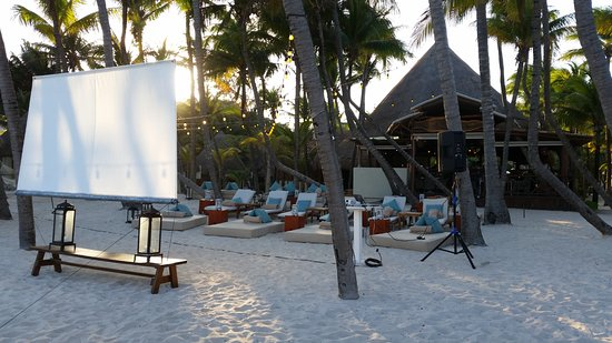 Mahekal Beach Resort: They played a movie on the beach!