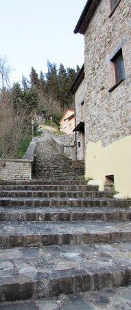 Macerata Feltria, Italia: Scalinata per il borgo