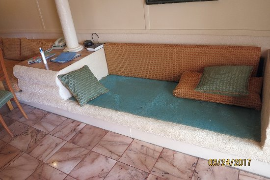 "Taino Beach Resort & Clubs: the ""Flintstone"" furniture (we removed the cushions in the picture)"