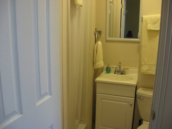 Steubenville, OH: Westfall House Room 1, King Bed, Fireplace, Private Bath.
