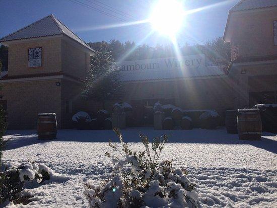 Lambouri Winery in snow