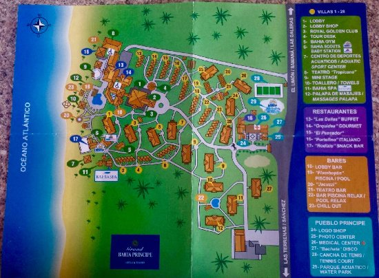 Grand Bahia Principe El Portillo: New Resort Map