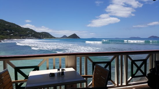 Sugar Mill Hotel: View from the beach side restaurant