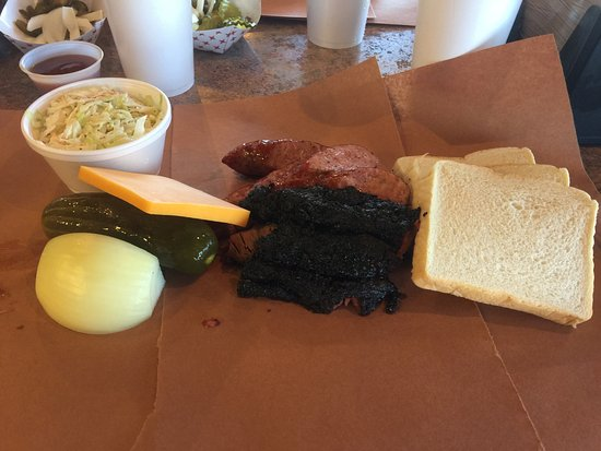 Deer Park, TX: Had the 2 meat 8oz special with coleslaw and ice tea
