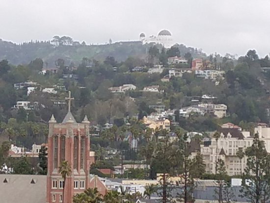 W Hollywood: Griffith Park & Observatory from the roof deck area.