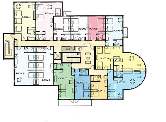 Crane Lake, มินนิโซตา: Floor plan of Guest rooms