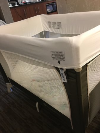 Drury Inn & Suites Austin North : Loved this crib cover for our baby, this is the first hotel I've seen that offers this.