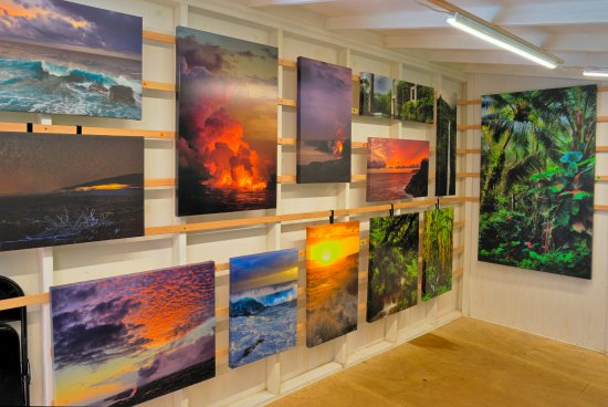 Pahoa, HI: We print our own canvas gallery-wrap images of the places we love, right here