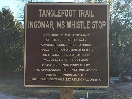 New Albany, MS: Biking the Tanglefoot Trail in Oct. 2016 (Ingomar, MS Whistle Stop)