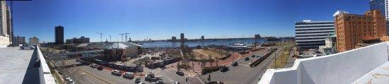 Norfolk Waterside Marriott: Free River View from top of Garage Deck (5th Floor)