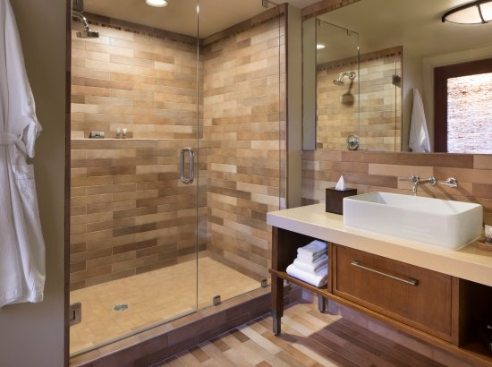 Hotel Abrego: Premier Fireplace King or Two Queens bathroom shower option
