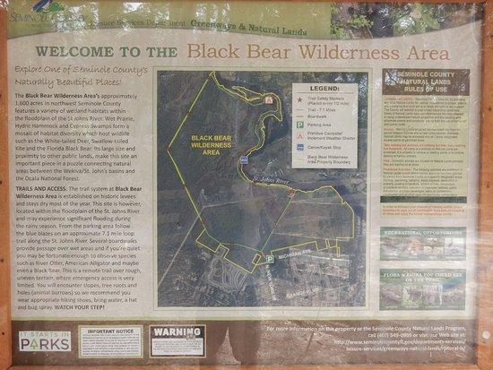 Sanford Florida Map.Map Picture Of Black Bear Wilderness Area Sanford Tripadvisor