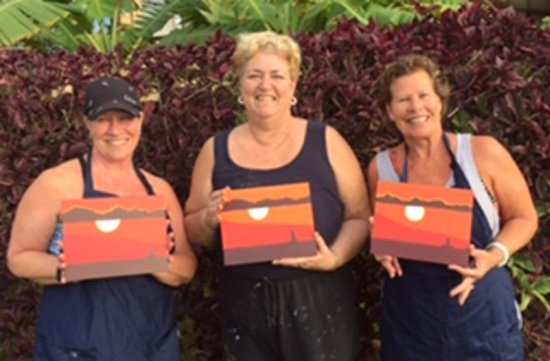 Maui Paint Parties: Here we are with our Sunset Sail paintings