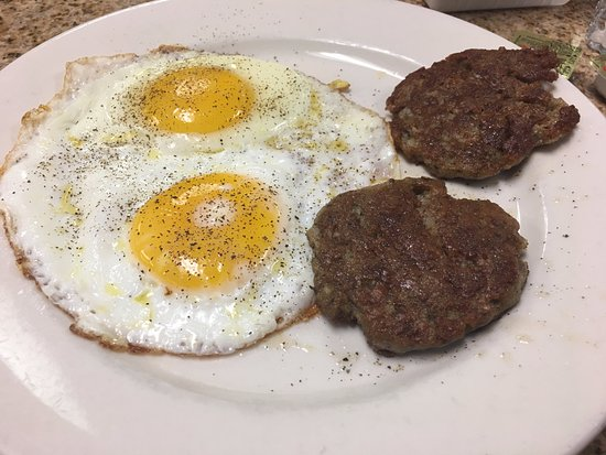 Lincoln's Waffle Shop: Eggs and Sausages