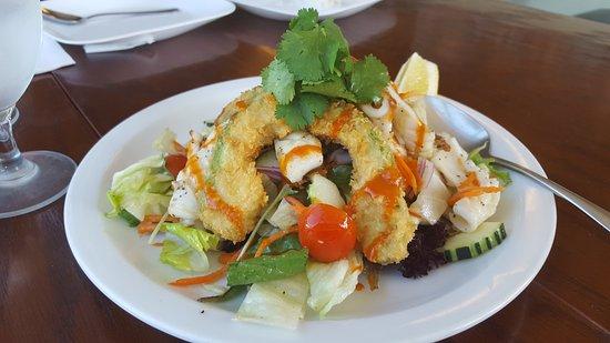 101 ThaiWay: Grilled calamari Salida w/tempura avocado