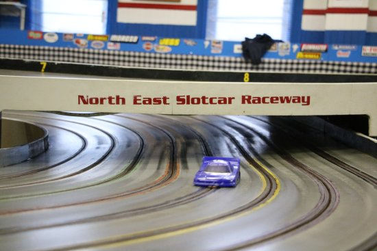 North East, PA: The slot car track is quite big!