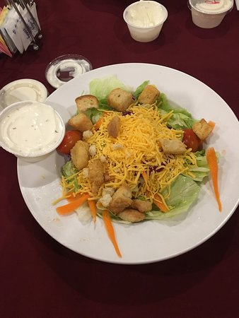 New Martinsville, WV: Side Salad with Ranch. The ranch tasted homemade.