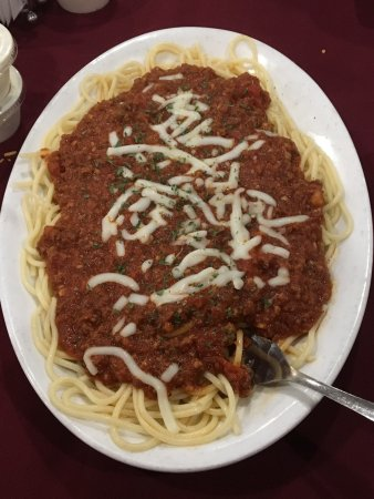 New Martinsville, WV: Spaghetti with meat sauce. Very good