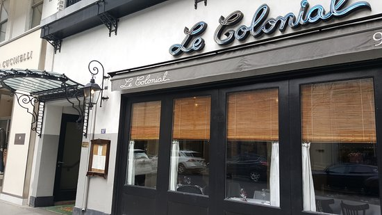 Le Colonial: view from the street