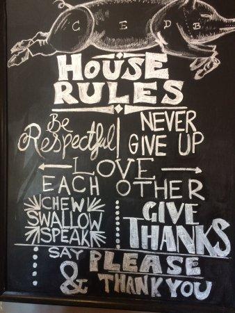 Blackbird Cafe: House Rules!
