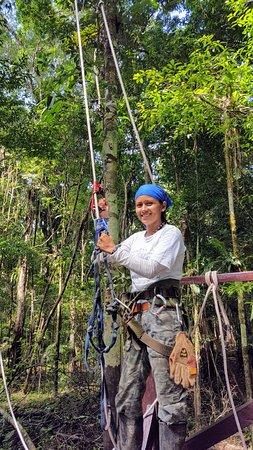 Amazonia Expeditions' Tahuayo Lodge: Climbing the canopy zipline