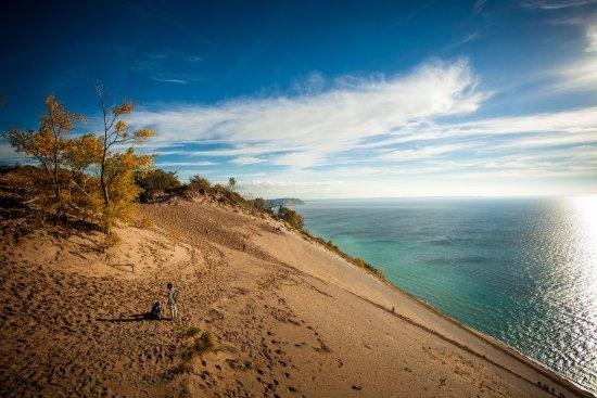 Sleeping Bear Dunes National Lakeshore: Sleep Bear Dunes - Note the people walking up the dunes. This thing is HUGE