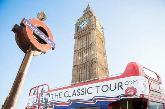 London Open Top Tour door Vintage Bus