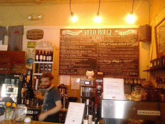 Velo Rouge Cafe San Francisco Menu
