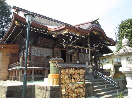 Yuki, Japan: 拝殿の横から