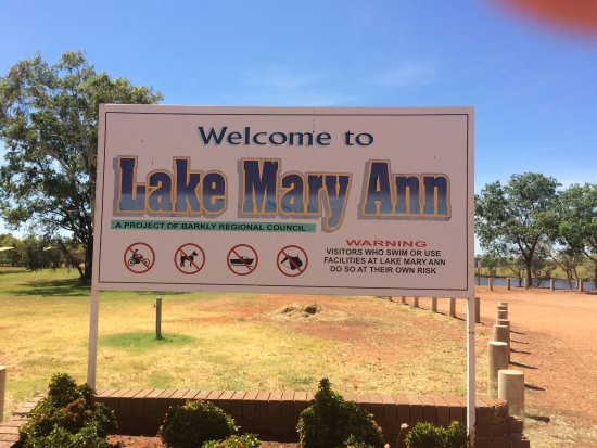 Tennant Creek, Austrália: Sign shows the condition of site