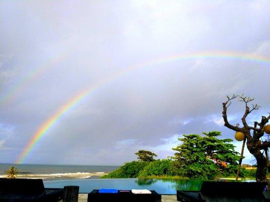 Rainbow at Villa Babar