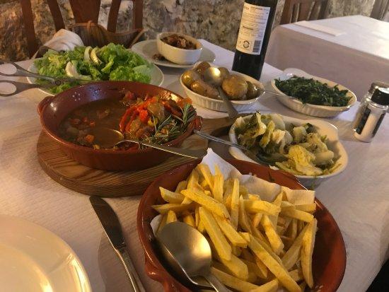 Serra del Rei, Portugal: O nosso jantar.