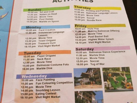 Sanur Paradise Plaza Suites: camp splash program