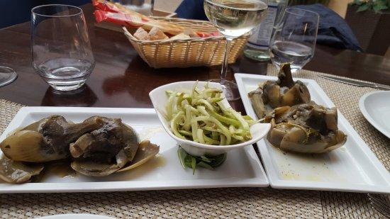 Trattoria da Santoni: Carciofi puntarelle sformato di carciofi e asparagi 1 04 2017