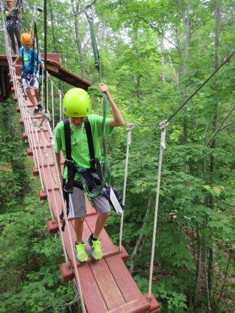 Legacy Mountain Ziplines: woooden bridge