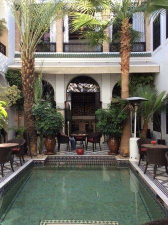 Le Riad Monceau: Vue de la salle à manger