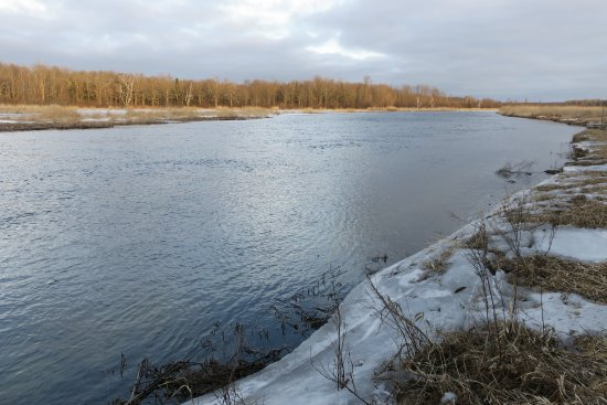 Deer River, MN: Picture of the Mississippi in early spring.