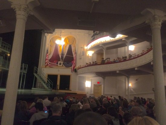 Ford's Theatre: View of Lincoln's box before the show begins ...