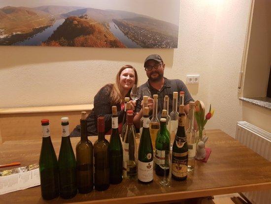 Briedel, Deutschland: Wine and moonshine