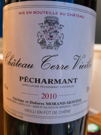 Restaurant Eleonore : Château Terre Vieille Pécharmant 2010, an excellent choice for the night's meal.
