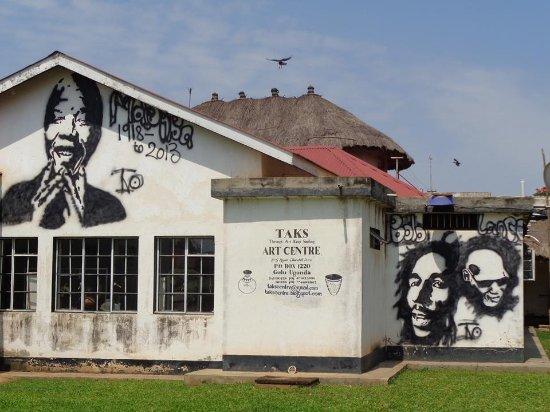 Gulu, Uganda: The rear elevation of TAKS Art Center