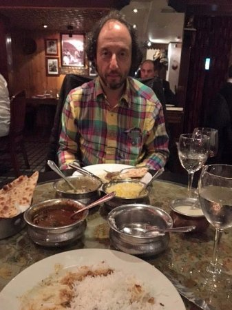 Chor Bizarre - India's Restaurant: That's me with the stuff we ate, folks.
