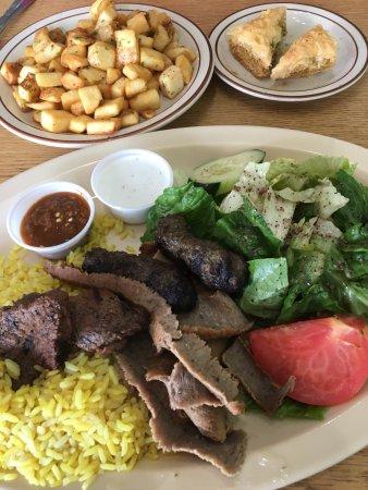 Decatur, GA: The Gyros Plate, Greek Potatoes, and Baklawa