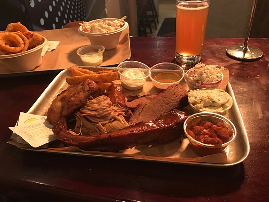Bison Bar and BBQ: Taster platter. Meat lovers dream.