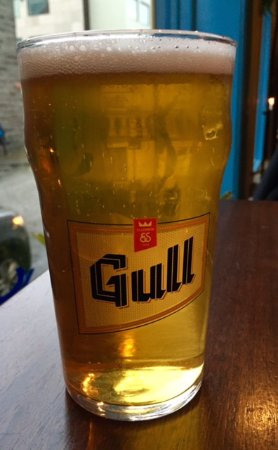 Hornid: Wash your meal down with light-tasting Gull beer